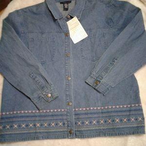 DENIM & CO women's Jean jacket 2x nwt